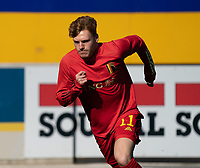Yorbe Vertessen (11) of Belgium pictured during the warm up before a friendly soccer game between KVC Westerlo and Belgium U21 on Tuesday 30 th of March 2021  in Westerlo Youth Complex , Westerlo Belgium . PHOTO SPORTPIX.BE | SPP | SEVIL OKTEM