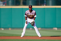 Rochester Red Wings second baseman Nick Gordon (1) during a game against the Lehigh Valley IronPigs on June 29, 2018 at Frontier Field in Rochester, New York.  Lehigh Valley defeated Rochester 2-1.  (Mike Janes/Four Seam Images)