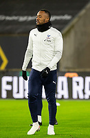 8th January 2021; Molineux Stadium, Wolverhampton, West Midlands, England; English FA Cup Football, Wolverhampton Wanderers versus Crystal Palace; Jordan Ayew of Crystal Palace during the warm up