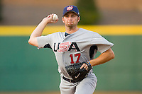 Ehren Wassermann #17 of Team USA in action versus Team Canada at the USA Baseball National Training Center, September 4, 2009 in Cary, North Carolina.  (Photo by Brian Westerholt / Four Seam Images)