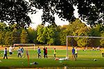 Children Playing Soccer at Fernhill Park, NE Portland, Oregon