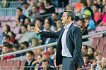 Coach Luis Ernesto Valverde Tejedor of FC Barcelona gestures during the La Liga 2017-18 match between FC Barcelona and SD Eibar at Camp Nou on 19 September 2017 in Barcelona, Spain. Photo by Vicens Gimenez / Power Sport Images