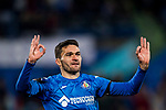Jorge Molina Vidal of Getafe CF celebrates after scoring his goal during the La Liga 2017-18 match between Getafe CF and Athletic Club at Coliseum Alfonso Perez on 19 January 2018 in Madrid, Spain. Photo by Diego Gonzalez / Power Sport Images