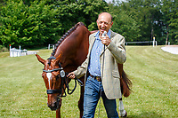 AUS-Bill Levett presents Huberthus AC during the First Horse Inspection for the CCI-L 4*. 2021 GBR-Bicton International Horse Trials. Devon. Great Britain. Copyright Photo: Libby Law Photography