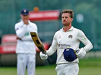 23rd September 2021; Aigburth, Liverpool, Merseyside, England; LV=Country Cricket Championship; Lancashire versus Hampshire; <br /> Lancashire captain Dane Vilas walks off after hitting the winning run to give his side a one wicket win and keeps them in the title race