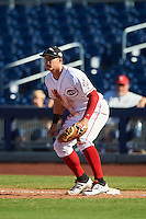 Peoria Javelinas Brian O'Grady (49), of the Cincinnati Reds organization, during a game against the Scottsdale Scorpions on October 22, 2016 at Peoria Stadium in Peoria, Arizona.  Peoria defeated Scottsdale 3-2.  (Mike Janes/Four Seam Images)