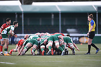 20th February 2021; Trailfinders Sports Club, London, England; Trailfinders Challenge Cup Rugby, Ealing Trailfinders versus Doncaster Knights; Craig Hampson of Ealing Trailfinders prepares to feed the ball into a scrum