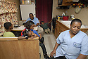 South Plaquemines High School football player Keven Smith lives in a FEMA trailer with seven family members, Belle Chasse,  Mon., Nov. 13, 2006.<br />(Cheryl Gerber for New York Times)