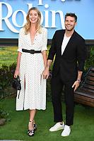 "Hannah Cooper and Joel Dommett<br /> arriving for the ""Christopher Robin"" premiere at the BFI Southbank, London<br /> <br /> ©Ash Knotek  D3416  05/08/2018"