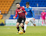 St Johnstone v St Mirren…27.10.18…   McDiarmid Park    SPFL<br />Ian McShane and Tristan Nydam<br />Picture by Graeme Hart. <br />Copyright Perthshire Picture Agency<br />Tel: 01738 623350  Mobile: 07990 594431
