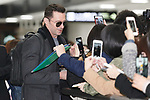 Exclusive: Australian actor Hugh Jackman signs autographs for fans upon his arrival at Narita International Airport on February 12, 2018, Chiba, Japan. Jackman spent time to greet fans who were anxiously waiting for him at the arrival lobby. He is in Japan to promote his movie ''The Greatest Showman'' which opens in Japan on February 16. (Photo by Rodrigo Reyes Marin/AFLO)