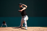 Pittsburgh Pirates pitcher Chad Kuhl (39) during a Major League Spring Training game against the Minnesota Twins on March 16, 2021 at Hammond Stadium in Fort Myers, Florida.  (Mike Janes/Four Seam Images)