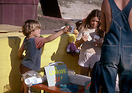 California - Child labor as seen around the world between 1979 and 1980 - Photographer Jean Pierre Laffont, touched by the suffering of child workers, chronicled their plight in 12 countries over the course of one year.  Laffont was awarded The World Press Award and Madeline Ross Award among many others for his work.