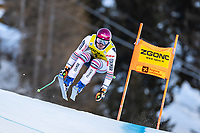 26th December 2020; Stelvio, Bormio, Italy; FIS World Cup Mens Downhill; Nils Allegre of France during his 1st training run for the mens downhill race of FIS ski alpine world cup at the Stelvio