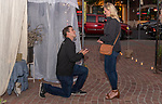 Hudson's wedding proposal to Courtney at Benicia's Sweetness and Light floral boutique, planned and catered by Michelle of Supper's On.
