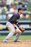 Troy Tulowitzki #2 of the Colorado Rockies plays in a spring training game against the Arizona Diamondbacks at Salt River Fields on February 26, 2011  in Scottsdale, Arizona. .Photo by:  Bill Mitchell/Four Seam Images.