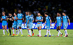 SHENZHEN - JULY 28: The Manchester City Squad celebrate after winning the match between Borussia Dortmund vs Manchester City FC at the 2016 International Champions Cup China match at the Shenzhen Stadium on 28 July 2016 in Shenzhen, China. (Photo by Power Sport Images/Getty Images)