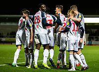 Bolton Wanderers' players celebrate an opening goal from Ryan Delaney (centre) <br /> <br /> Photographer Andrew Kearns/CameraSport<br /> <br /> The Premier League - Leicester City v Aston Villa - Monday 9th March 2020 - King Power Stadium - Leicester<br /> <br /> World Copyright © 2020 CameraSport. All rights reserved. 43 Linden Ave. Countesthorpe. Leicester. England. LE8 5PG - Tel: +44 (0) 116 277 4147 - admin@camerasport.com - www.camerasport.com