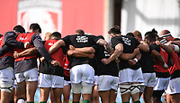 5th September 2020; Kingsholm Stadium, Gloucester, Gloucestershire, England; English Premiership Rugby, Gloucester versus London Irish; London Irish huddle