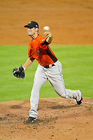 Frederick Keys starting pitcher Richard Zagone #51 in action against the Winston-Salem Dash at BB&T Ballpark on May 29, 2012 in Winston-Salem, North Carolina.  The Dash defeated the Keys 8-7.  (Brian Westerholt/Four Seam Images)