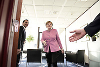 Pictured L-R: Greek Prime Minister Alexis Tsipras and German Chancellor Angela Merkel Friday 19 February 2016<br /> Re: European Union summit in Brussels, Belgium.