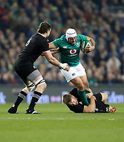 Saturday 17th November 2018 | Ireland vs New Zealand<br /> <br /> Rory Best is tackled by Jack Goodhue and Liam Squire during 2018 Guinness Series between Ireland and Argentina at the Aviva Stadium, Lansdowne Road, Dublin, Ireland. Photo by John Dickson / DICKSONDIGITAL