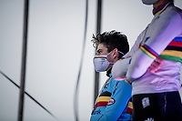 Wout van Aert (BEL/Jumbo-Visma) finishing 2nd behind  his nemesis<br /> <br /> UCI 2021 Cyclocross World Championships - Ostend, Belgium<br /> <br /> Elite Men's Race<br /> <br /> ©kramon