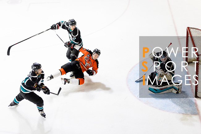 Cathay Flyers and HK Tigers during the Mega Ice Hockey 5s match on May 04, 2018 in Hong Kong, Hong Kong. Photo by Marcio Rodrigo Machado / Power Sport Images