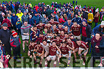 Piarsaigh na Dromoda players and supporters celebrate their win over St Mary's at the South Kerry Senior Football Championship Final replay in Ballinskelligs on Saturday.