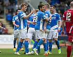 St Johnstone v Stirling Albion…30.07.16  McDiarmid Park. Betfred Cup<br />Liam Craig celebrates his goal<br />Picture by Graeme Hart.<br />Copyright Perthshire Picture Agency<br />Tel: 01738 623350  Mobile: 07990 594431