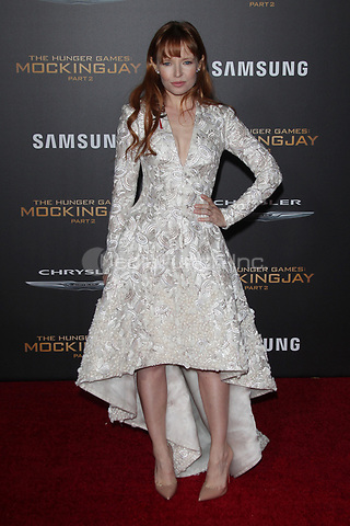 """LOS ANGELES, CA - NOVEMBER 16: Stef Dawson at the Premiere Of """"The Hunger Games: Mockingjay - Part 2"""" At Microsoft Theater On November 16, 2015. Credit: mpi21/MediaPunch"""