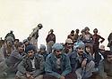 Iraq 1979<br /> In Nawzang, on november 21st, the 3rd commemoration of the 3 killed Komala members , in front 2nd from left Mala Baktiar and 3rd, Mamosta Jaffar<br /> Irak 1979<br /> A Nawzang, le 21 novembre, 3eme anniversaire de 3 membres du Komala tues, au premier rang , assis, 2eme ap gauche, Mala Baktiar et le 3eme, Mamosta Jaffar