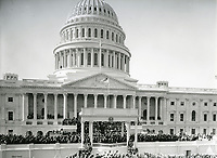 Inauguration ceremony for President John F. Kennedy on January 20, 1961.<br /> <br /> Photo by Architect of the Capitol photographers.