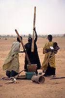 Near Bankilare, southwestern Niger - Bella Women Pounding Millet