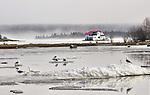 Spring breakup in Yellowknife Bay