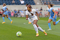 Chicago, IL - Saturday July 30, 2016: Frances Silva during a regular season National Women's Soccer League (NWSL) match between the Chicago Red Stars and FC Kansas City at Toyota Park.