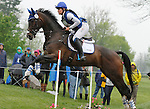 LEXINGTON, KY - APRIL 30: #33 Revitavet Capato and Jordan Linstedt compete in the Cross Country Test for the Rolex Kentucky 3-Day Event at the Kentucky Horse Park.  April 30, 2016 in Lexington, Kentucky. (Photo by Candice Chavez/Eclipse Sportswire/Getty Images)