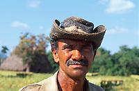 Cuba, Tabak-Pflanzer im Valle de Vinales, Provinz Pinar del Rio