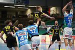 Viggo Kristjansson (TVB) am Ball beim Spiel in der Handball Bundesliga, Frisch Auf Goeppingen - TVB 1898 Stuttgart.<br /> <br /> Foto © PIX-Sportfotos *** Foto ist honorarpflichtig! *** Auf Anfrage in hoeherer Qualitaet/Aufloesung. Belegexemplar erbeten. Veroeffentlichung ausschliesslich fuer journalistisch-publizistische Zwecke. For editorial use only.