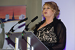 Pix: Shaun Flannery/shaunflanneryphotography.com<br /> <br /> COPYRIGHT PICTURE>>SHAUN FLANNERY>01302-570814>>07778315553>><br /> <br /> 4th April 2014.<br /> The Rotherham Athena Awards 2014.<br /> Jackie Freeborn.