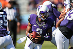 TCU Horned Frogs quarterback Trevone Boykin (2) in action during the game between the OSU Cowboys and the TCU Horned Frogs at the Amon G. Carter Stadium in Fort Worth, Texas. TCU defeated OSU 42 to 9.