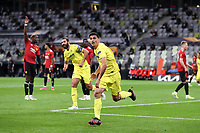 26th May 2021; STADION GDANSK  GDANSK, POLAND; UEFA EUROPA LEAGUE FINAL, Villarreal CF versus Manchester United:  GERARD MORENO celebrates as he turns away after scoring his goal for 1-0