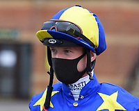 Jockey Jack Mitchell during Horse Racing at Salisbury Racecourse on 11th September 2020