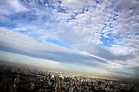 CHINA. Beijing. Sunset over central Beijing, seen from the CCTV communications tower. 2009