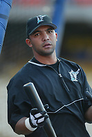 Alex Gonzalez of the Florida Marlins during a 2003 season MLB game at Dodger Stadium in Los Angeles, California. (Larry Goren/Four Seam Images)