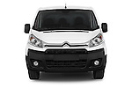 Car photography straight front view of a 2015 Citroen Jumpy L1H1 Ft10 4 Door Cargo Van