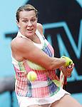 Anastasia Pavlyuchenkova, Russia, during Madrid Open Tennis 2016 match.May, 4, 2016.(ALTERPHOTOS/Acero)