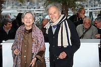 EMMANUELLE RIVA & JEAN-LOUIS TRINTIGNANT- PHOTOCALL DU FILM ' AMOUR '-65th CANNES FILM FESTIVAL