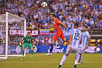 Action photo duringthe match Argentina vs Chile corresponding to the Final of America Cup Centenary 2016, at MetLife Stadium.<br /> <br /> Foto durante al partido Argentina vs Chile cprresponidente a la Final de la Copa America Centenario USA 2016 en el Estadio MetLife , en la foto: Jose Fuenzalida<br /> <br /> 26/06/2016/MEXSPORT/ISAAC ORTIZ