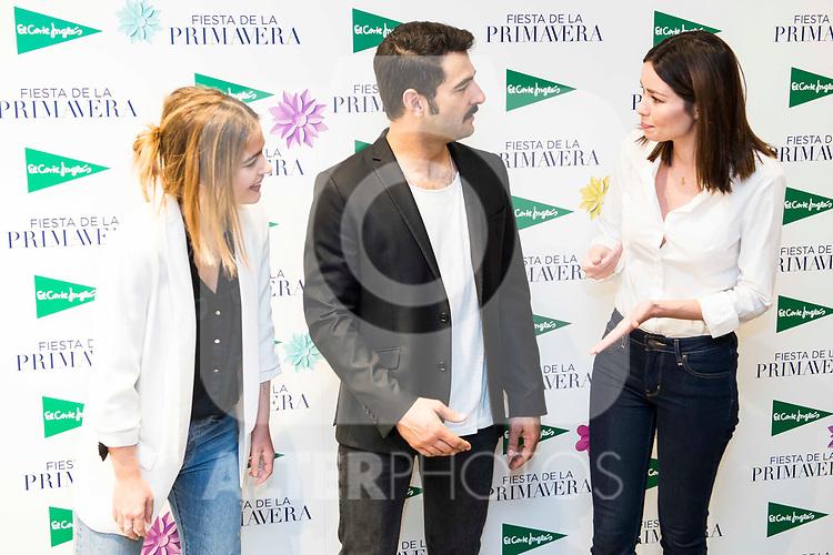 Laura Escanes, Antonio Velazquez and Dafne Fernandez attends to the photocell of the Spring of El Corte Ingles in Madrid. March 21, 2017. (ALTERPHOTOS/Borja B.Hojas)